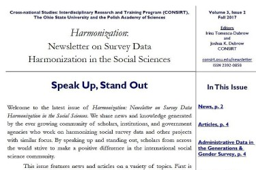 Harmonization Newsletter v3n2 fall 2017