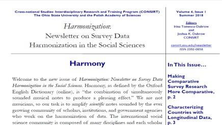 Harmonization Newsletter v4n1 Summer 2018